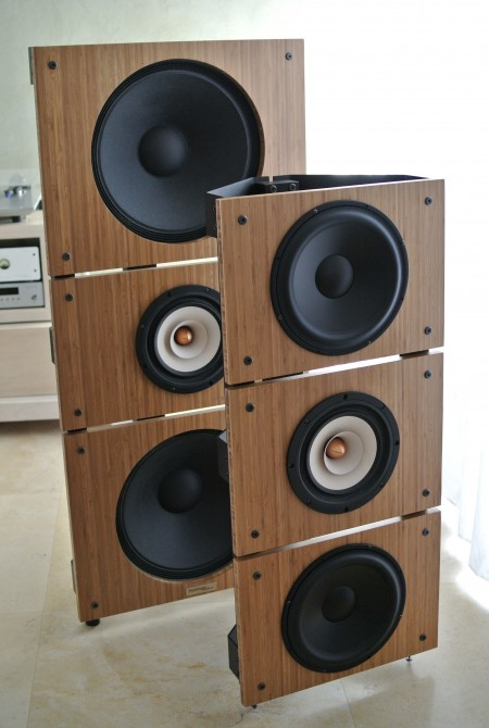 Trio15 Tb And Trio10 Tb Open Baffle Speakers Front