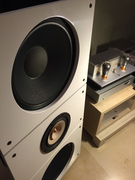 Trio15TB NEO White Open Baffle Speakers by PureAudioProject up