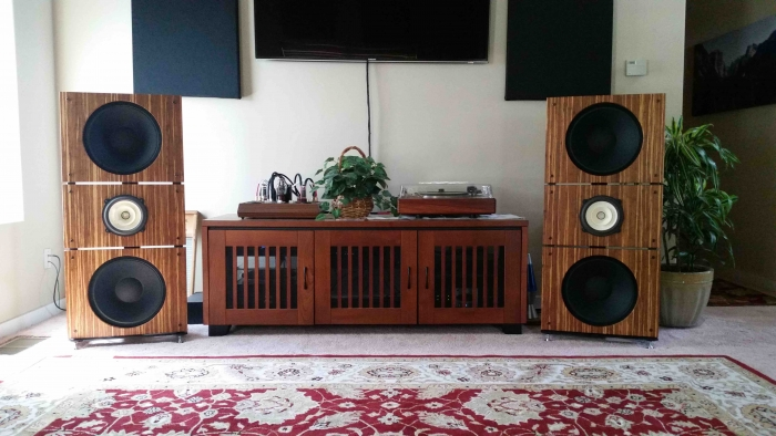 Trio15 Voxativ Open Baffle Speakers by PureAudioProject Scott LR